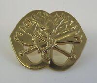 New Fire Department Gold Tone Helmet Badge Firefighter Fireman BRAND NEW OS