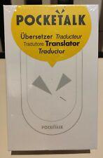 Traducteur POCKETALK  74 Langues Two-way Voice Translation WI-FI Blanc NEUF