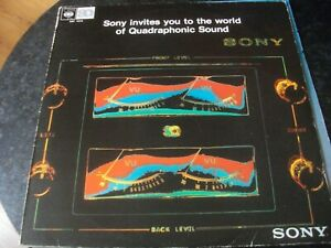 SONY INVITES YOU TO THE WORLD OF QUADRAPHONIC SOUND VINYL CBS IN GOOD CONDITION