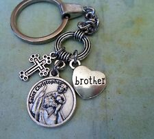 Brother Keychain, St. Christopher, Travel Protection, Patron Saint of Travelers