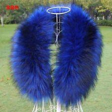 Womens Faux Fur Hooded Collar Scarf Shawl Wrap Stole Fluffy Warm Neck Warmer