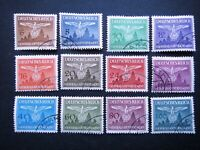 Germany Nazi 1943 Stamps Used Swastika Eagle Generalgouvernement WWII Third Reic