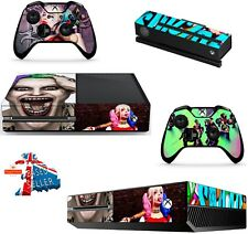 SUICIDE SQUAD XBOX ONE *TEXTURED VINYL ! * PROTECTIVE SKIN DECAL WRAP STICKERS