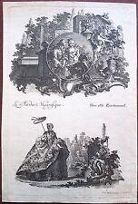Eau-forte originale, Décor baroque, Johann Essaias Nilson