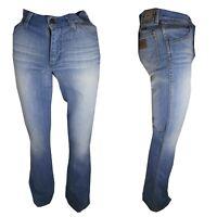 Jeans Wrangler Uomo Bootcut Flare w28 29 Pantaloni slim fit Denim Zampa Cotone