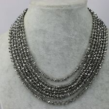 lia sophia signed jewelry mutil layered black glass beads huge cluster necklace