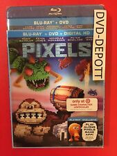 Pixels Blu Ray + DVD + HD Target Lenticular slipcover Donkey Kong Free Shipping