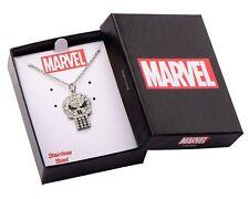 Marvel Avengers Punisher Rhinestone Logo Necklace