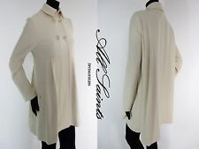 STUNNING WOMENS ALL SAINTS LEADVILLE COAT WOOL DOUBLE BREASTED IVORY 10 £225 VGC