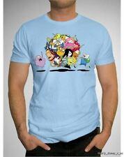 New Adventure Time Group Ball Jake Finn Lumpy Top Shirt Tee T-Shirt Blue Small S