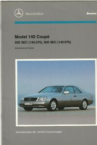 1992 Mercedes-Benz Model 140 Coupe Introduction into Service Manual.