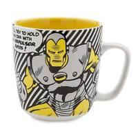 Disney Store Iron Man Marvel Comic Book Super Hero Ceramic Coffee Cup Mug 19oz