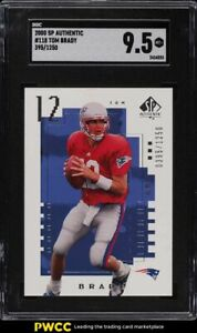 2000 SP Authentic Football Tom Brady ROOKIE RC /1250 SGC 9.5 MINT+
