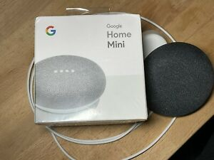 TWO Google Home Mini Smart Speakers with Google Assistant - Chalk and Charcoal