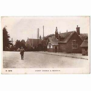LICKEY Church and Schools, Worcestershire RP Postcard Postally Used 1918