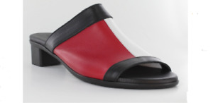 Arche Obiska Noir/Feu/Blanc Comfort Slide Sandal Women's sizes 36-41/5-10 NEW!!!