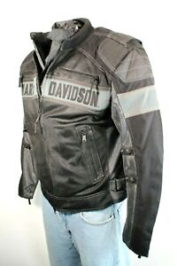 HARLEY DAVIDSON Mecca Textile Size XL Black/Gray Motorcycle Men Jacket MSRP $249