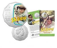 2020 50 Cent Skippy The Bush Kangaroo Coloured Coin Australia Uncirculated