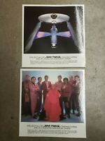 """Star Trek III Search for Spock 9.75"""" Laminated Trading Card lot of 2"""