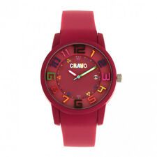 Crayo Festival Fuchsia Silicone Band Unisex Watch with Date CR2005