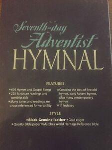 Seventh-Day Adventist Hymnal - Black Genuine Leather  (SDA Hymns)