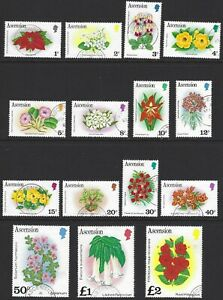 ASCENSION 1981 Flowers Complete Set to £2 (15) CTO