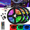 49FT 15M Strip Light Colorful 3528 RGB LED SMD Fairy Lights Remote 12V Power Set
