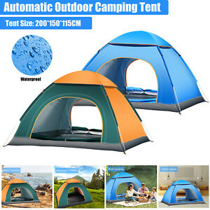 Instant Pop Up Tent 2/4 Person Dome Beach Camping Hiking Fishing Outdoor Shelter