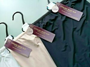 M&S PLUS SIZES 24 26 OR 28 BLACK ALMOND OR WHITE COOLING WAIST SLIP FREE POST