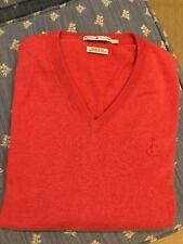 peter millar large golf V-neck Cashmere Blend Red Sweater