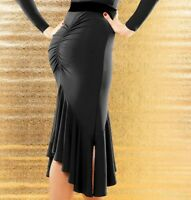 Latin Womens Sexy Dance Dress salsa tango Cha cha Ballroom falbala Dance Skirt