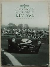 GOODWOOD REVIVAL Motor Sport A4 Official Programme Sept 1998