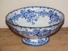 Saladier 19ème décor floral bleu - Creil Montereau Barluet & Cie