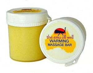 Warming Massage Balm with Emu Oil Natural Bar Dry Muscle And Joint Pain 75g
