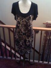 Women's DRESS, BLACK DRESS  WITH ANIMAL PRINT, UNWORN Women's DRESS