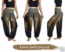 Thai Harem Trousers - Boho Festival Hippy Smock Waist Elephant Yoga Pants Rayon
