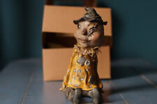 """An original one-of-a-kind, """"Scarecrow"""" polymer clay sculpture."""