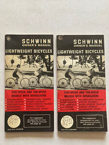 Vtg Schwinn Bicycle Owners Manuals '70 Five And Ten Speed Models