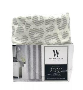 Wamsutta Montville Shower Curtain 72 In x 72 Leopard Gray Violet