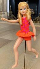 Vintage Barbie SKIPPER Doll Pink Skin Lashes TNT SAUSAGE CURLS 1105 - Swimsuit