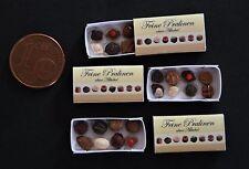 1 Schachtel Pralinen Konfekt Miniatur Lebensmittel 1:12 Puppenstube Puppenhaus