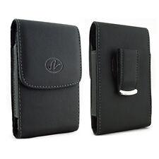 Black Vertical Leather Cellphone Case w/ Belt Clip Pouch 20 DIFFERENT SIZES