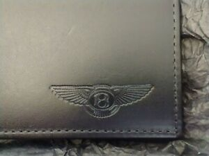 Bentley Branded Ettinger of London Hand Made Black & Mustard Leather Wallet  W10