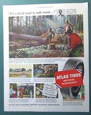 Original 1954 Atlas Tire Ad Photo Endorsed Ben L Allen of Franklin Virginia