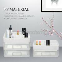 Makeup Cosmetics Drawer Storage Box Plastic Boxes Holder Home Organiser Case CN