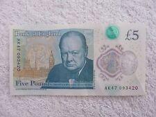 NEW POLYMER £5 POUND NOTE , JAMES BOND FAVOURITE NUMBER AK 47 093420