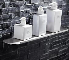 304 Stainless Steel Round Shower Caddy Storage Holder Shelf Wall Mount Bathroom