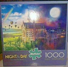 Jigsaw Puzzle Night And Day Neuschwanstein Dreams Castle #11840 1000 PC Buffao