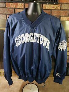 VINTAGE Starter Georgetown Hoyas NCAA Basketball Jacket Mens Large Ewing Vtg