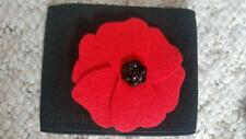 Junior Black Red Remembrance Day Poppy Armbands - Football Teams Sports Players